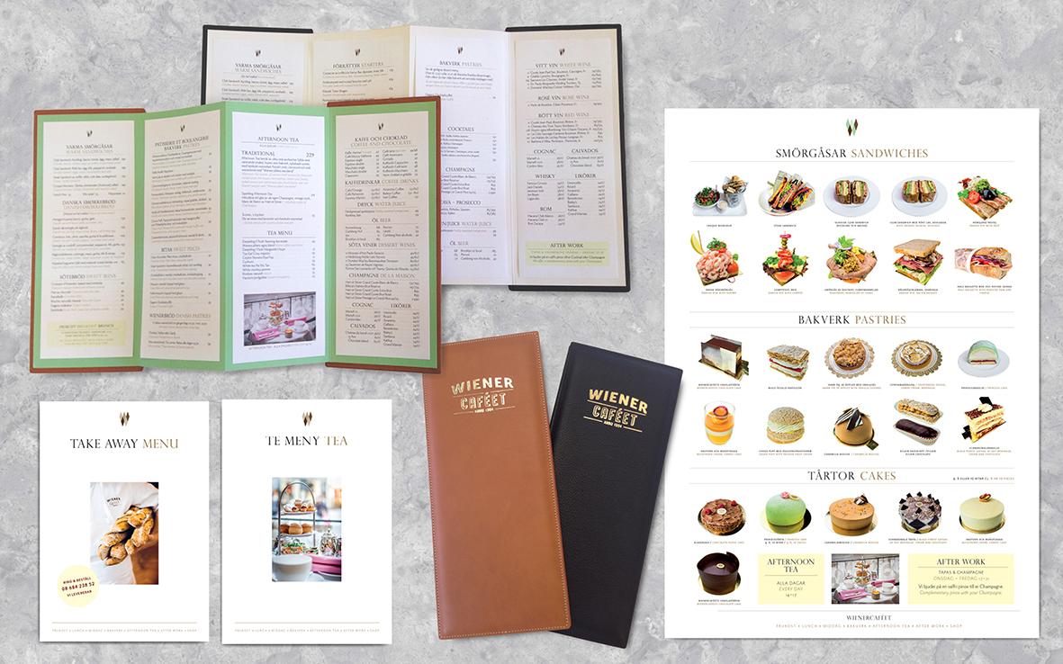 Wienercafeét menu print