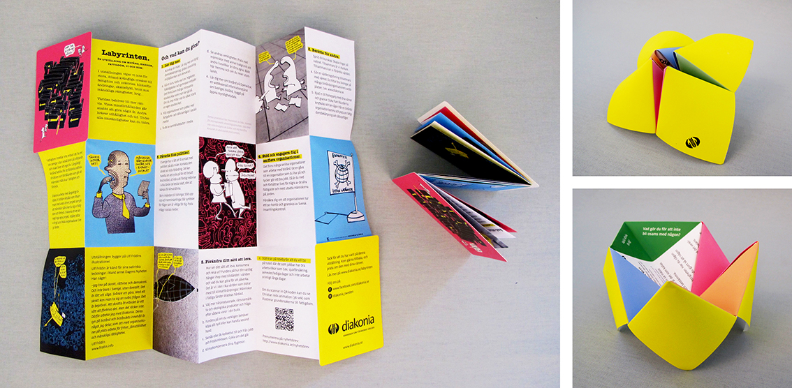 diakonia exhibition graphic design broden design